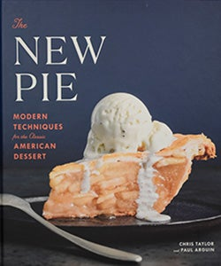 book cover of The New Pie, featuring an apple pie with vanilla ice cream
