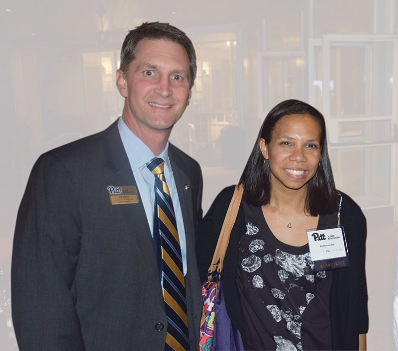 Jeff Gleim with Rebecca Jules (A&S '99, SHRS '02G) in Raleigh, N.C.