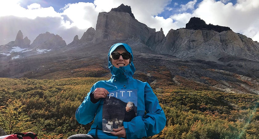 Amelia Mengon (NURS '80) treated her Pitt Magazine to a breathtaking view as she trekked through Chile's Torres del Paine National Park.