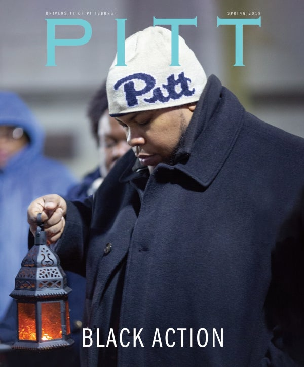 Spring 2019 Pitt Magazine cover, Black Action