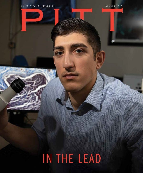Pitt Magazine Summer 2020 cover with George Panagis