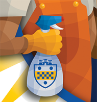 Pitt shield cleaning spray illustration
