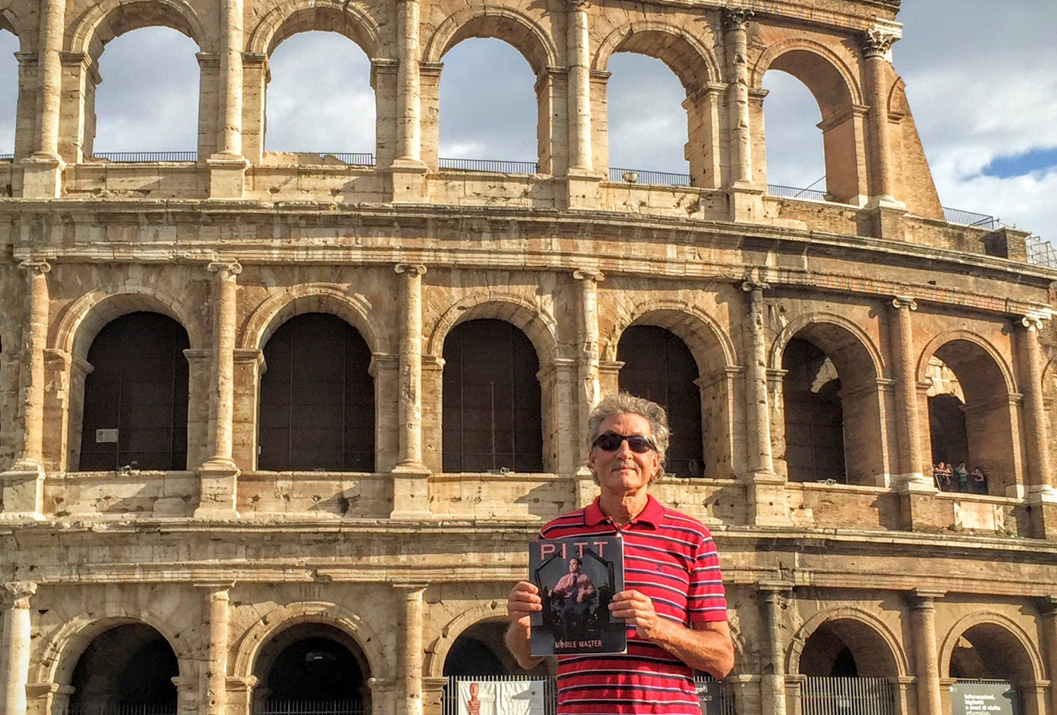 Pitt Magazine tags along with J.P. Blake (A&S '70) on a visit to the Colosseum in Rome, Italy.