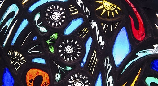 Stained-glass window in Heinz Memorial Chapel