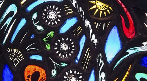 multicolor stained-glass window