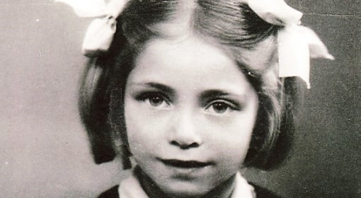 Renée Lyszka Lisse as a little girl.