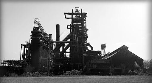 a steel mill near Pittsburgh