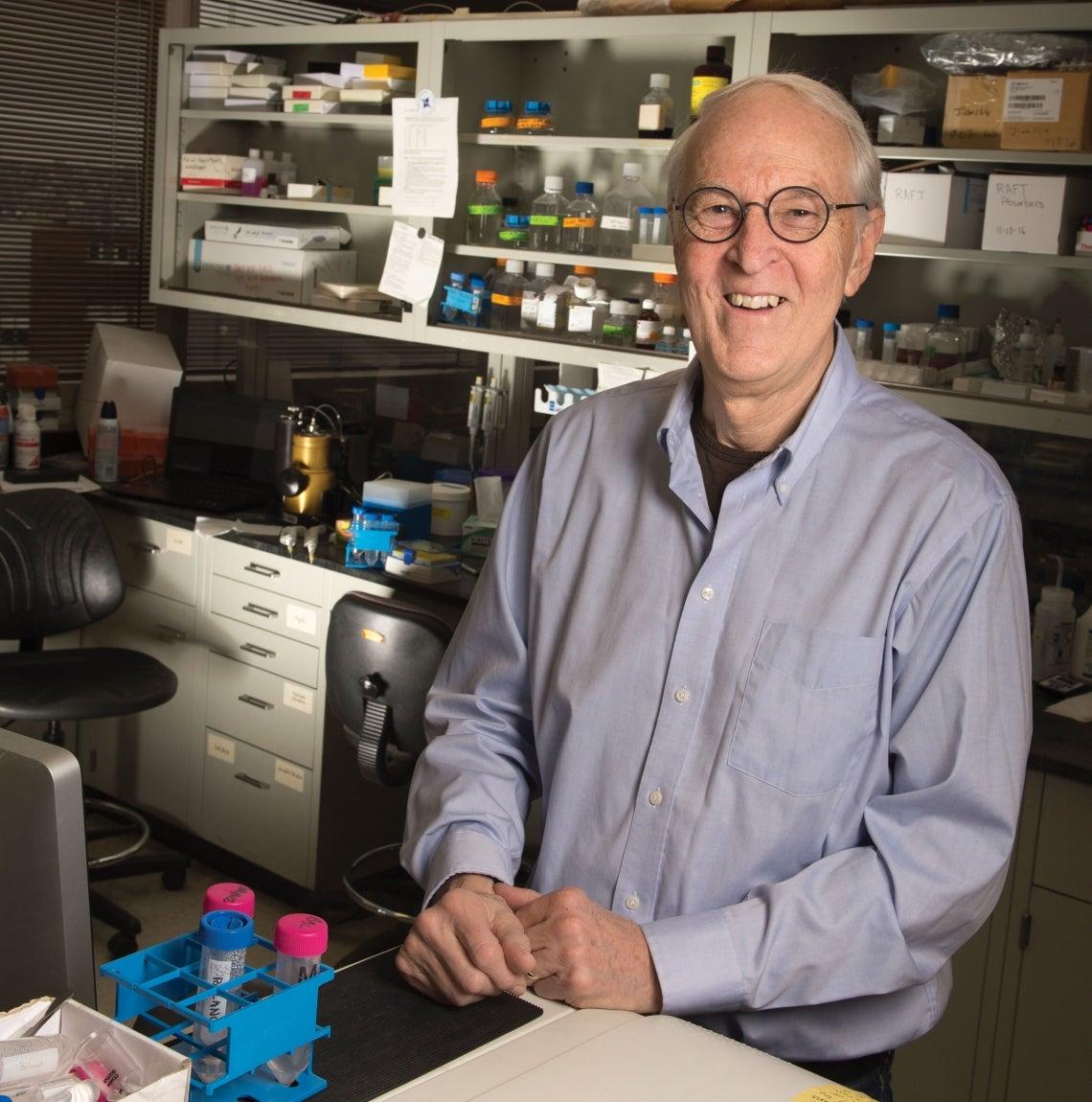 Jim Funderburgh in the lab