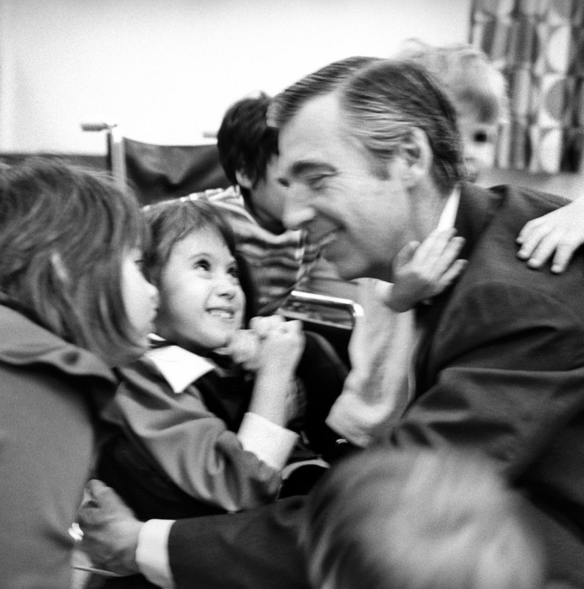 Fred Rogers with little kids, courtesy of Jim Judkis