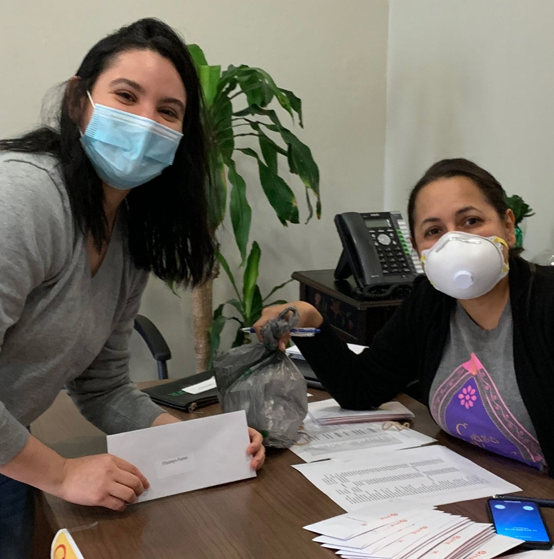 Monica Ruiz, right, with a client
